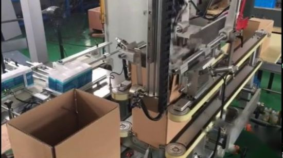 High Speed Robotic Top Load Carton Box Case Packer Equipment and Palletizer Manufacturers
