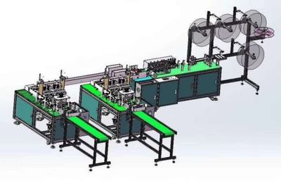 1+2 Fully Automatic Face Mask Making Machine